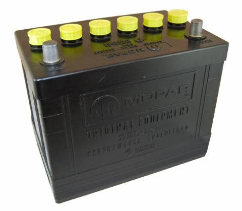 Mopar Battery Group 24 Yellow Cap 1970-73 340, 1971-74 360, 1966 361, 1967-73 383, 1972-73 400